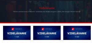 Sekcia vzdelávania na webe brokera TopForex