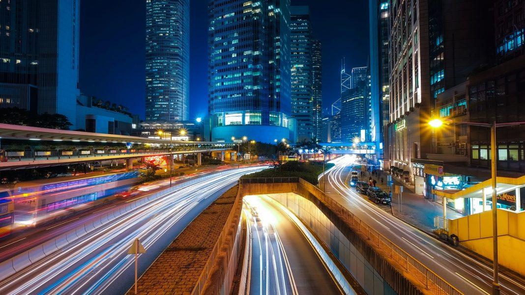 asijské akcie, Hongkong, Šanghaj