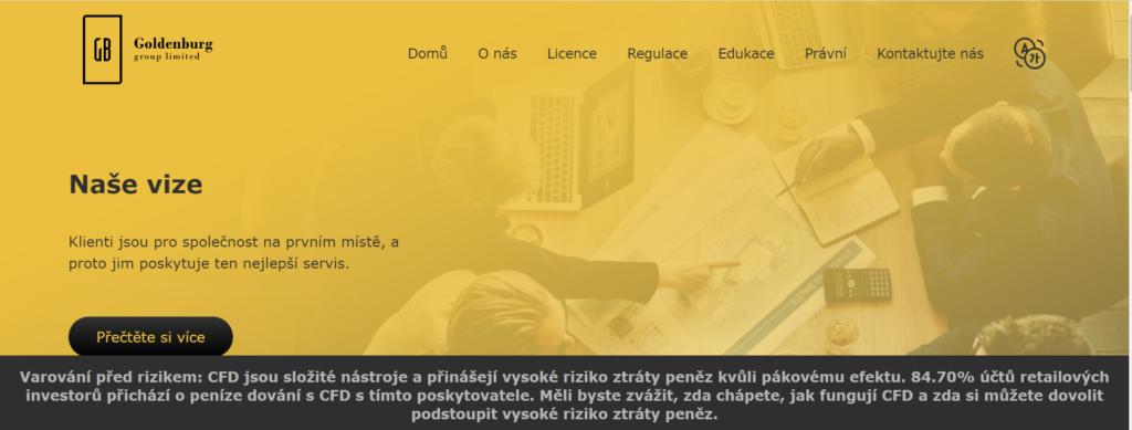 Webové stránky Goldenburg group limited